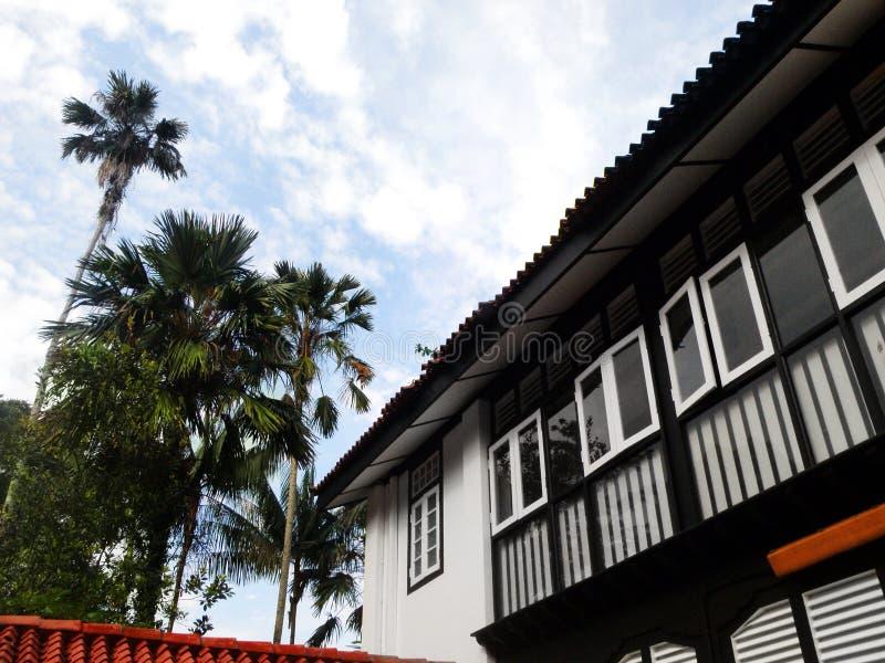 Antique historic tropical house stock photos