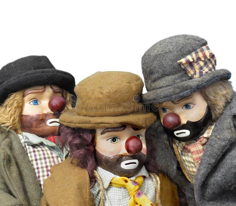 Antique hobo dolls isolated. royalty free stock photo