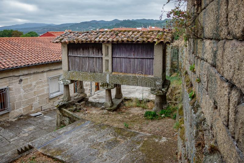Horreo, typical spanish granary stock image