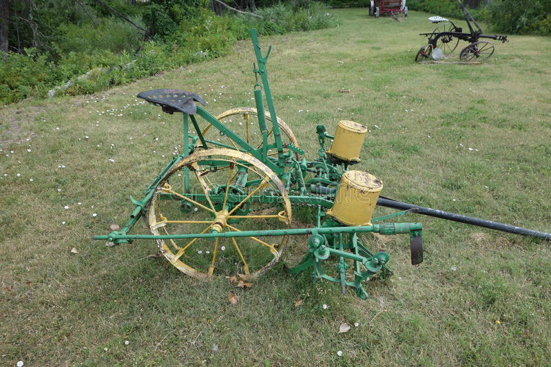 Farm Implement Pieces : An antique horse drawn farming tool stock image of