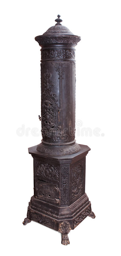 Antique iron stove royalty free stock images