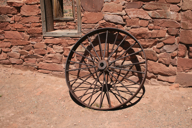 Download Antique iron wheel stock image. Image of rusty, building - 4948783