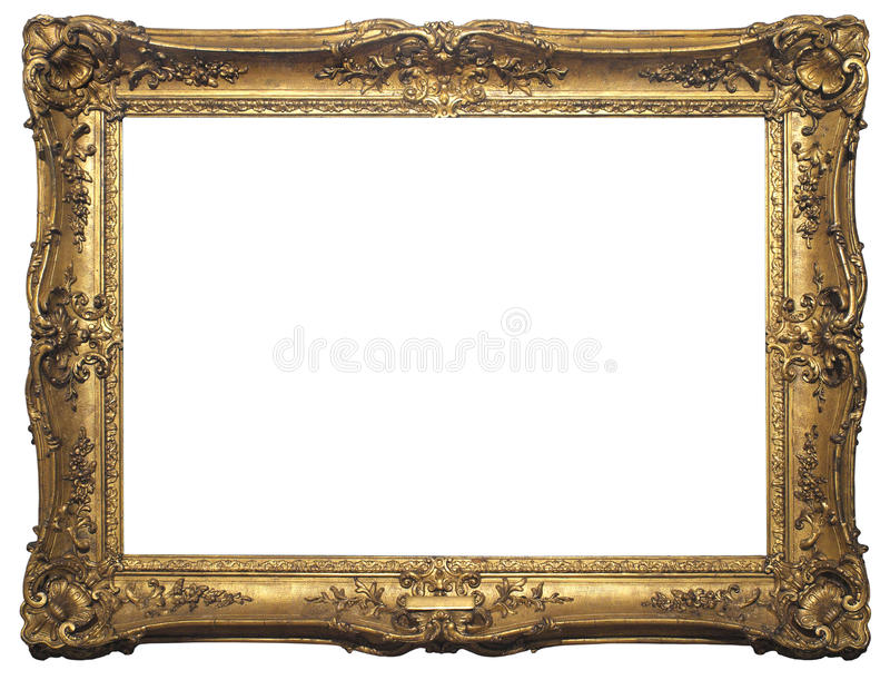 Download Antique Isolated Picture Frame Stock Image - Image of gold, golden: 40449683