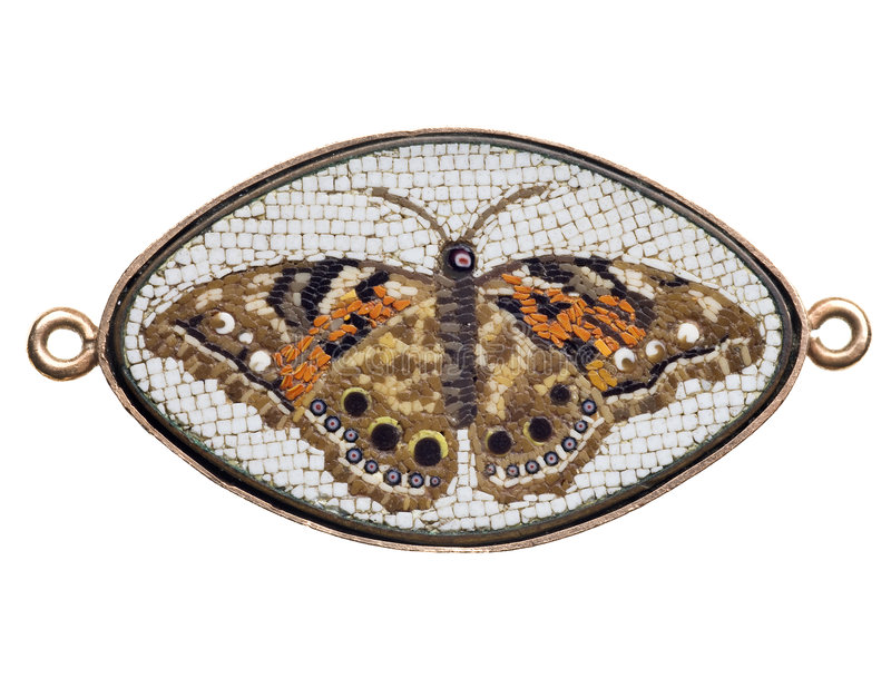 Download Antique Italian Glass Butterfly Mosaic Stock Image - Image: 7985035