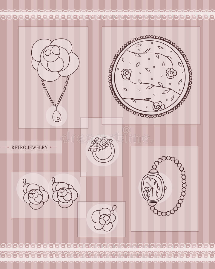 Download Antique jewelry stock vector. Image of fashion, element - 34270426