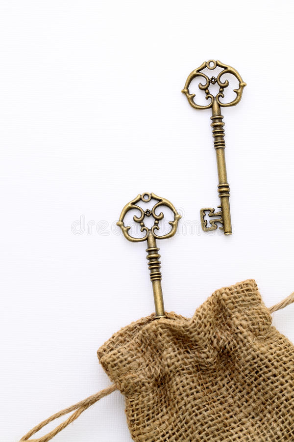 Download Antique key stock image. Image of concept, detail, fabric - 25321959