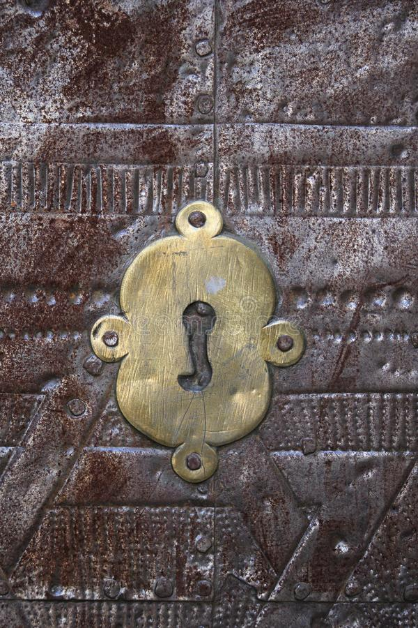 Antique keyhole of the door royalty free stock photography