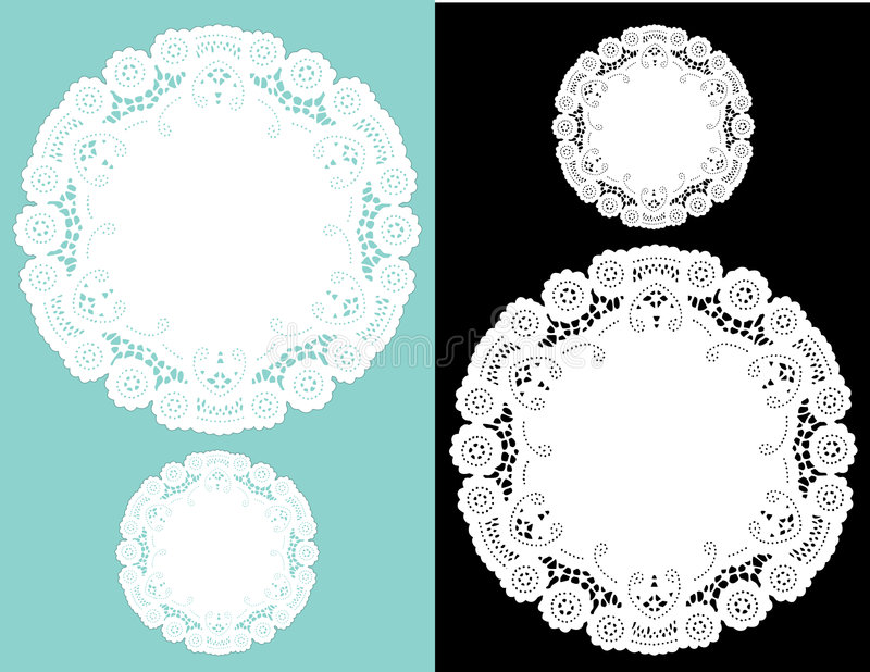 Antique Lace Doilies royalty free illustration