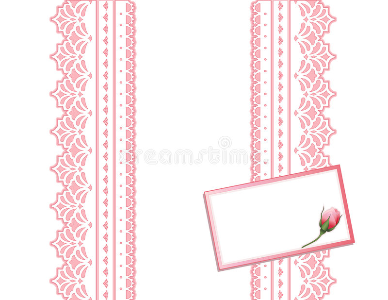 Download Antique Lace Present, Gift Card Stock Image - Image: 4142801
