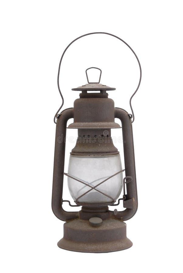 Antique Lantern. An antique lantern shot on a white background stock photos