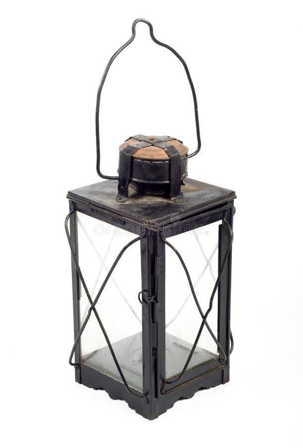 Antique lantern. Old antique lantern isolated on white stock photo