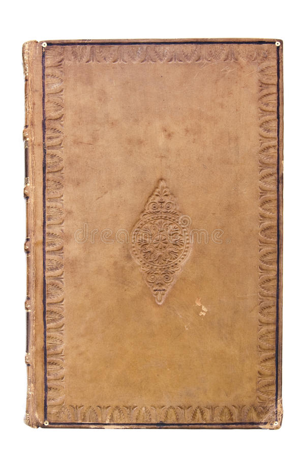 Leather Book Cover Photo Tutorial : Antique leather book cover stock image of