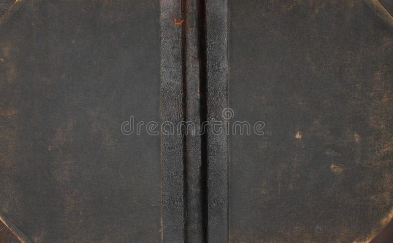 Antique leather book cover. stock images