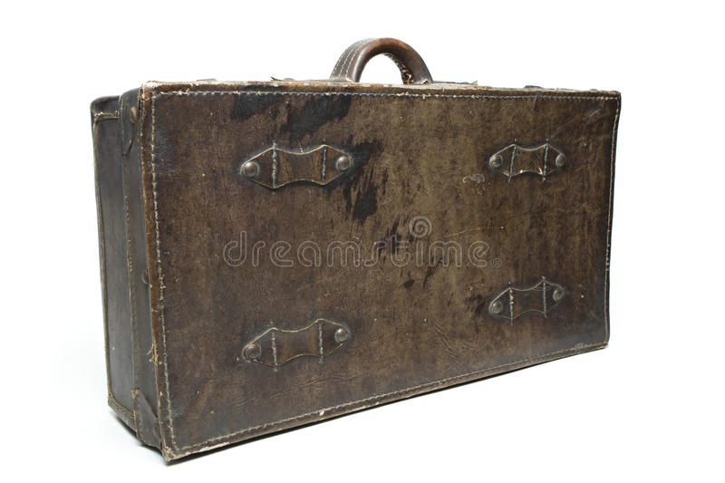 Antique leather luggage royalty free stock photography