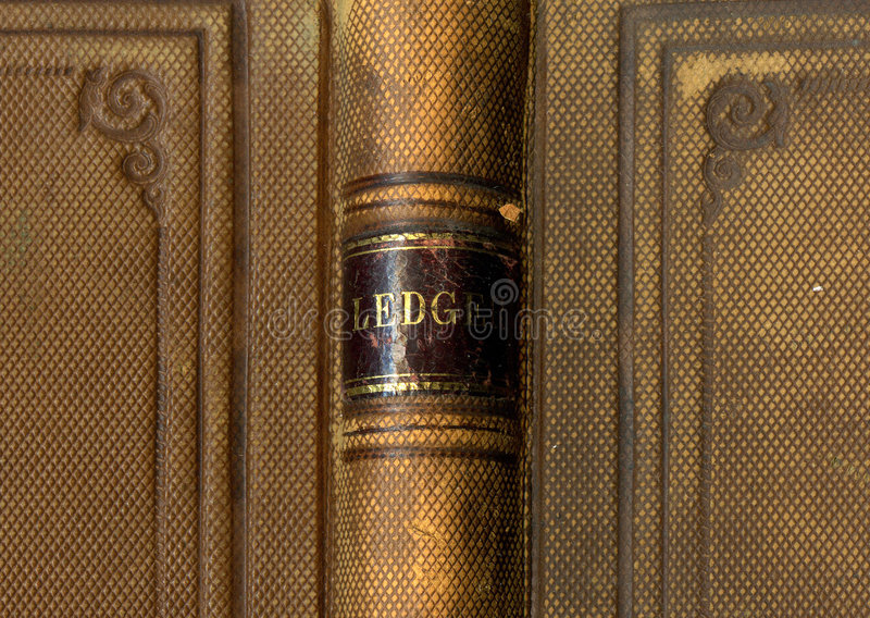 Download Antique Ledger Book Cover Royalty Free Stock Photos - Image: 1402238