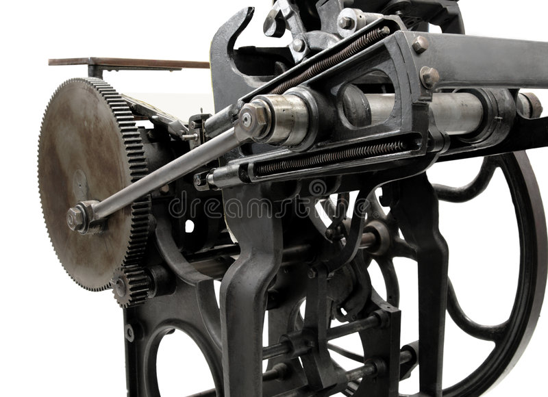 Antique Letterpress Stock Photo