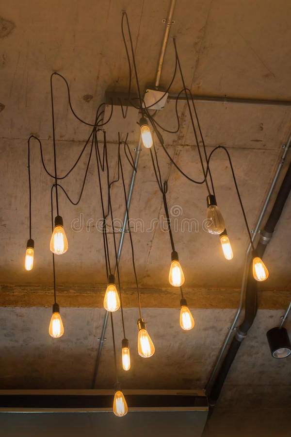 Antique light bulbs hanging on the ceiling stock photo image of download antique light bulbs hanging on the ceiling stock photo image of collection glowing aloadofball Gallery