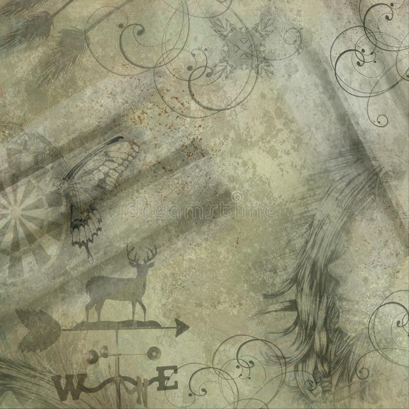 Antique looking grunge background with copy space vector illustration