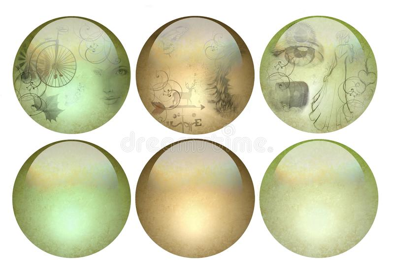 Antique Looking Pearlized Buttons Stock Images