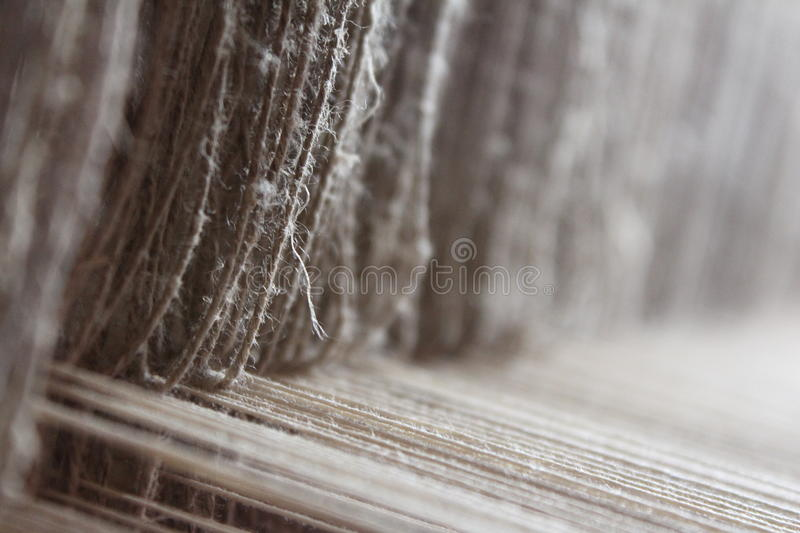 Antique loom. Closeup of an antique loom royalty free stock photos