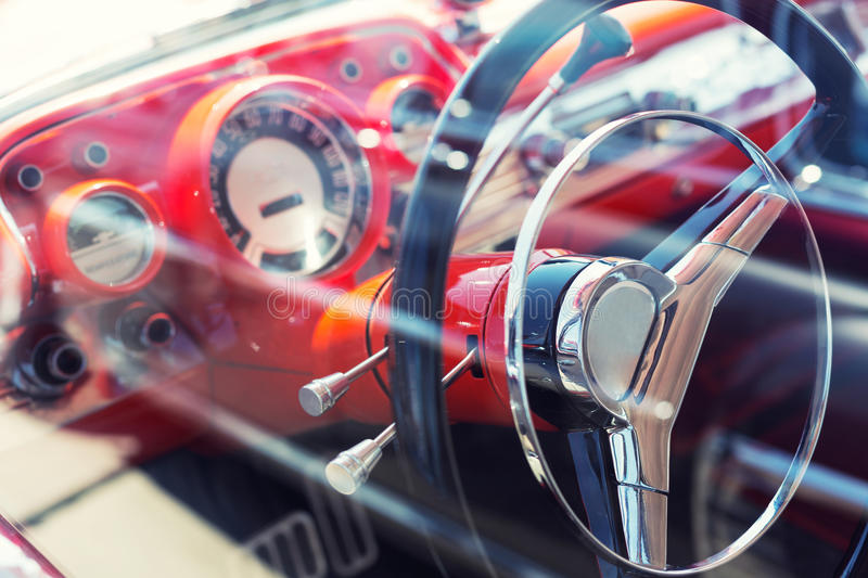 Download Antique luxury car stock image. Image of driving, closeup - 31296819