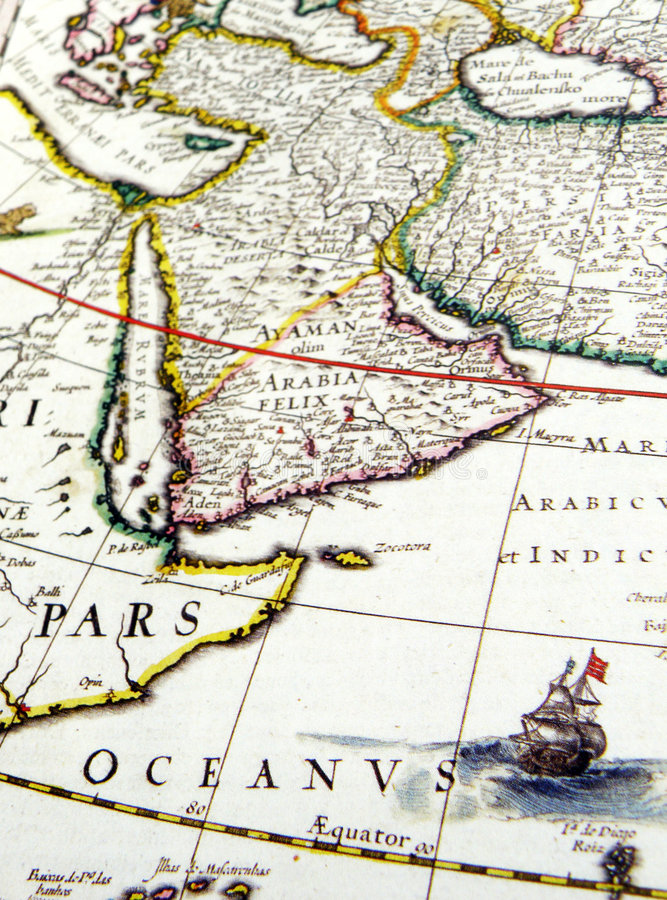 Download Antique map of Arabia stock photo. Image of atlas, arabia - 6609838