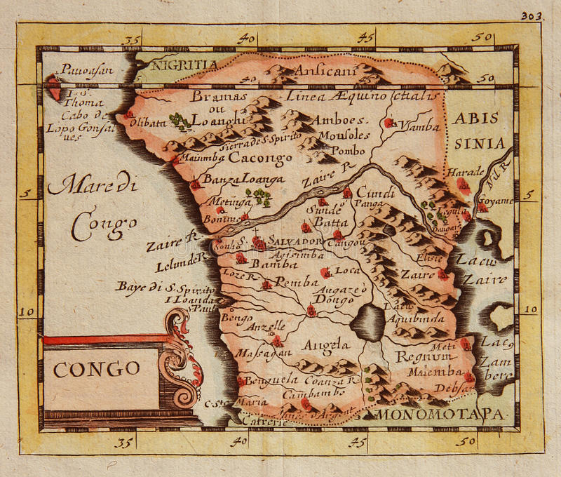 Download Antique Map Of Congo (Africa) Stock Image - Image: 29539011