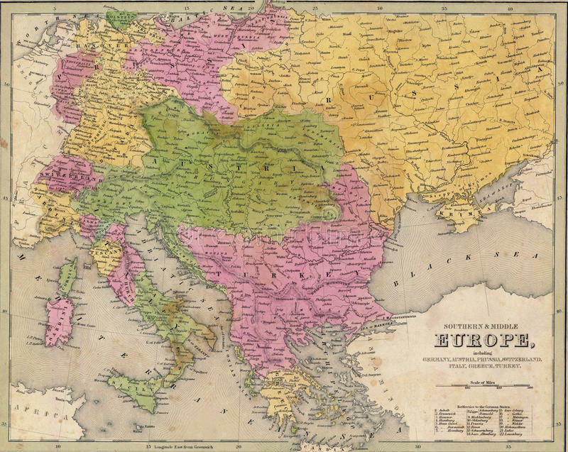download antique map of eastern europe stock illustration illustration of country drawing 21716769