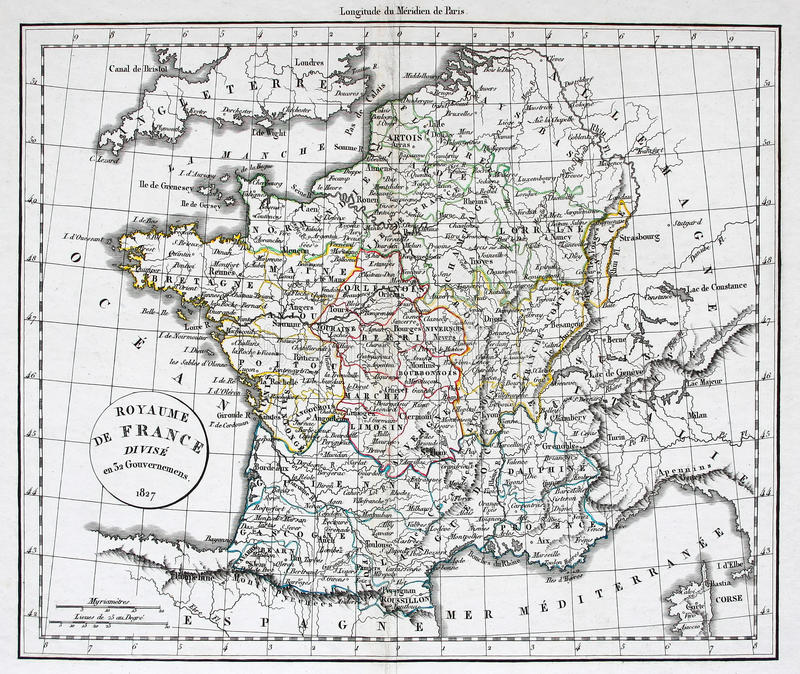 Download Antique Map of France stock image. Image of nations, cartography - 10119299