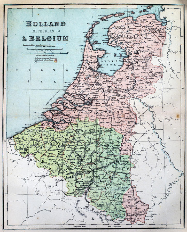 download antique map of holland and belgium stock image image of cartography mapping