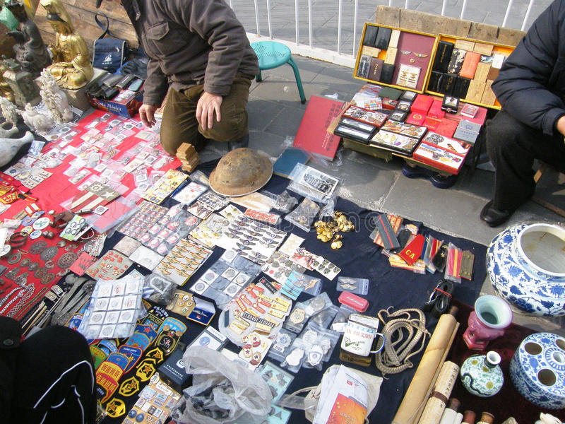 Download Antique market editorial stock image. Image of chinese - 36875114