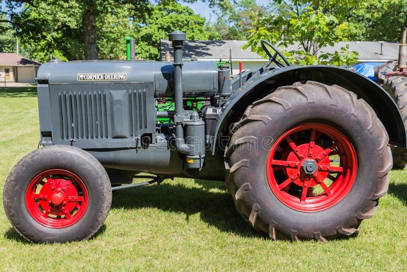 Antique McCormick-Deering Farm Tractor stock photo