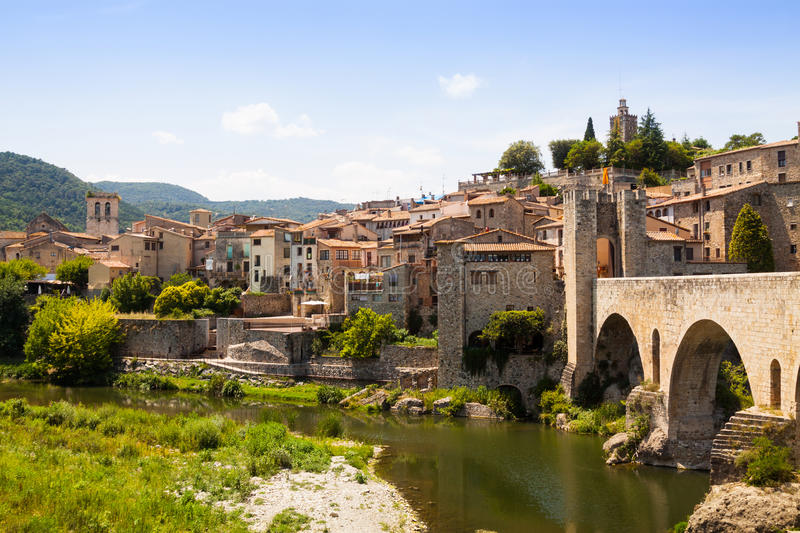 Download Antique Medieval Town With Old Gate On Bridge Stock Photo - Image: 41189672