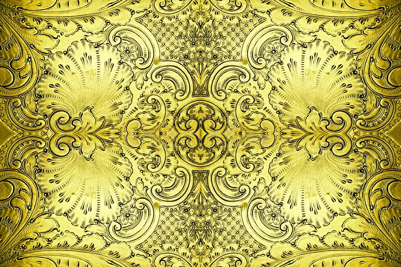 Antique metal design abstract. Intricate antique metal pattern as abstract background stock photos