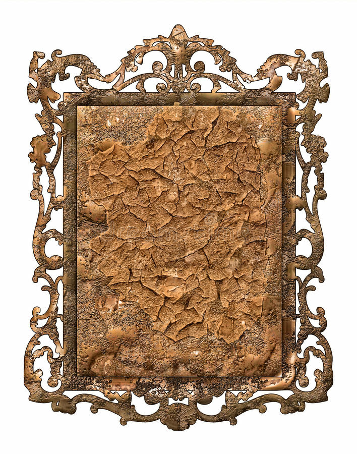 Download Antique metal frame stock photo. Image of classic, image - 41373694
