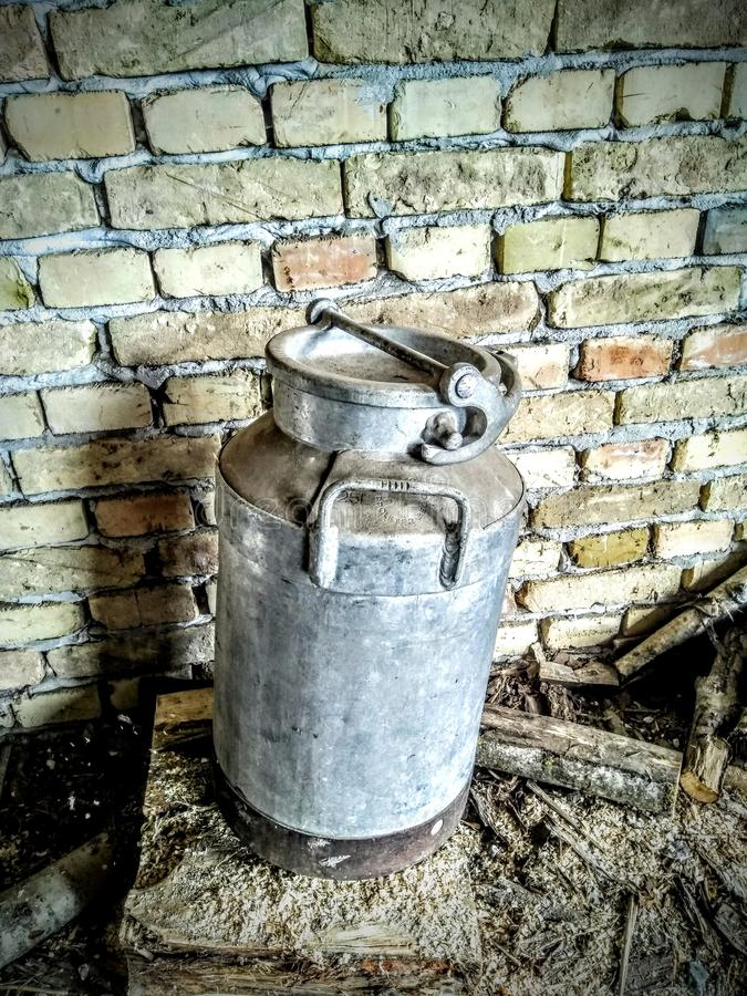 Antique Milk Can royalty free stock photos
