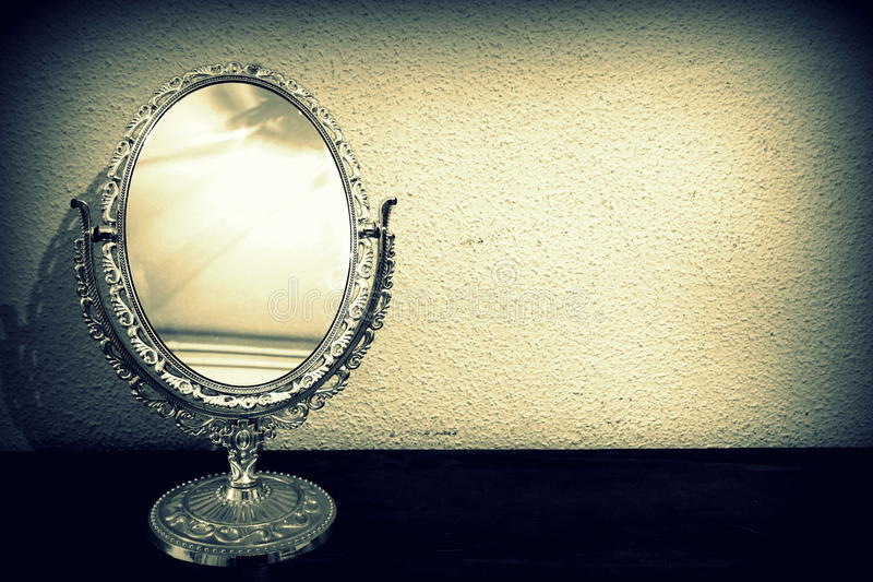 Antique mirror. Abstract stock photography