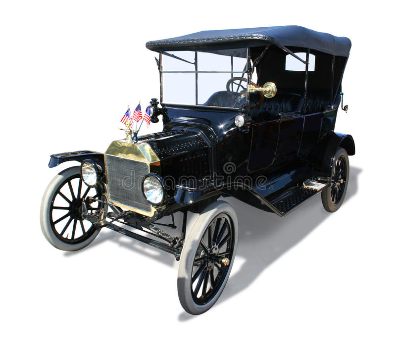 Antique Model-T Automobile- isolated royalty free stock photography