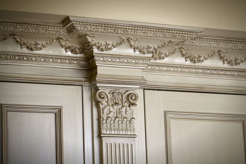 Antique moldings. Architectural Detail of moldings royalty free stock images