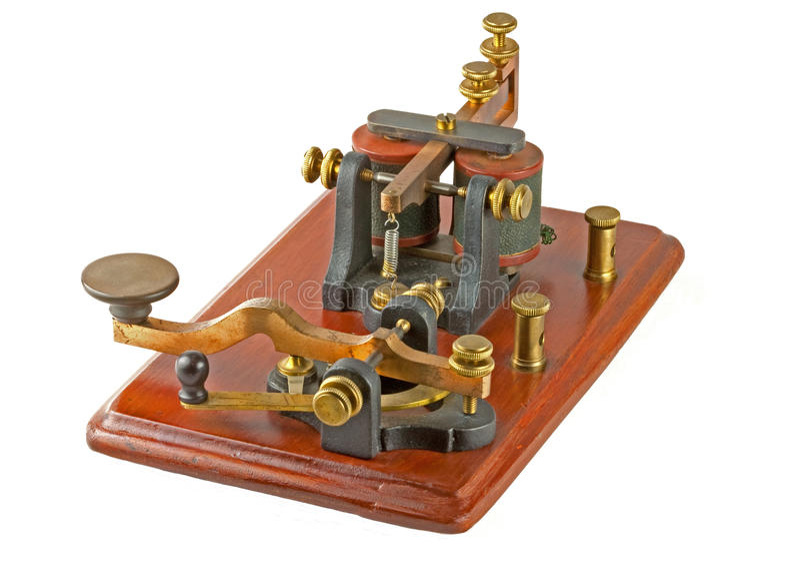 Antique Morse Key royalty free stock photo