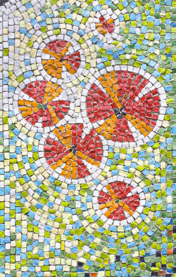 Antique mosaic. Close up background royalty free stock photos