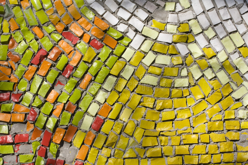 Antique mosaic. Close up background royalty free stock images