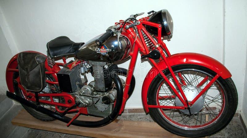 Antique motorcycle brand SERTUM 248 ccm 1938 stock photography