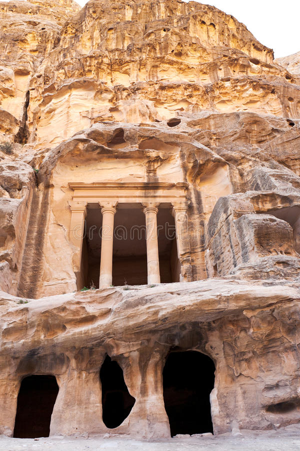 Download Antique Nabatean Temple In Little Petra Stock Photo - Image: 24226356