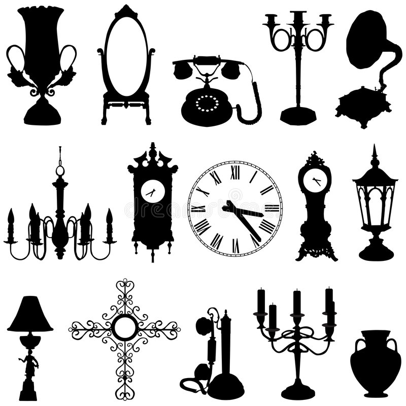 Antique objects vector illustration