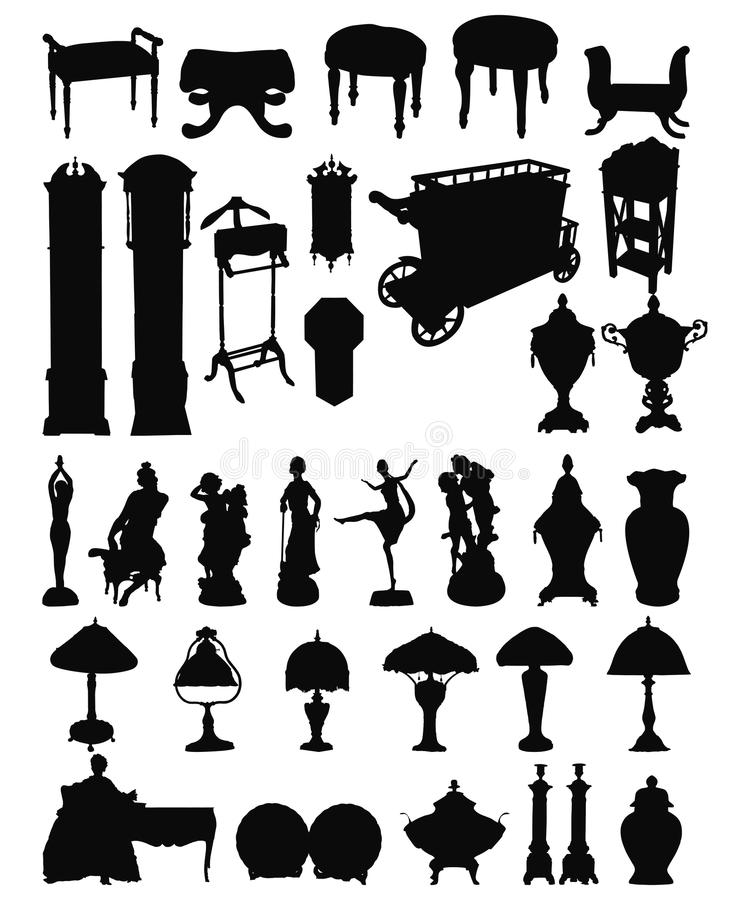 Download Antique Objects Silhouettes Royalty Free Stock Image - Image: 13207606
