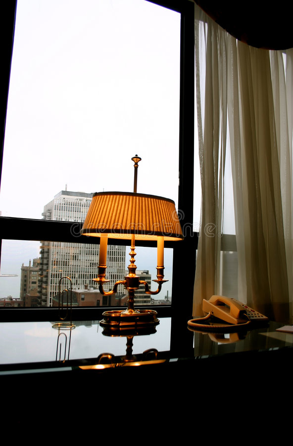 Download Antique Office Lamp stock image. Image of hotel, desk - 3922721