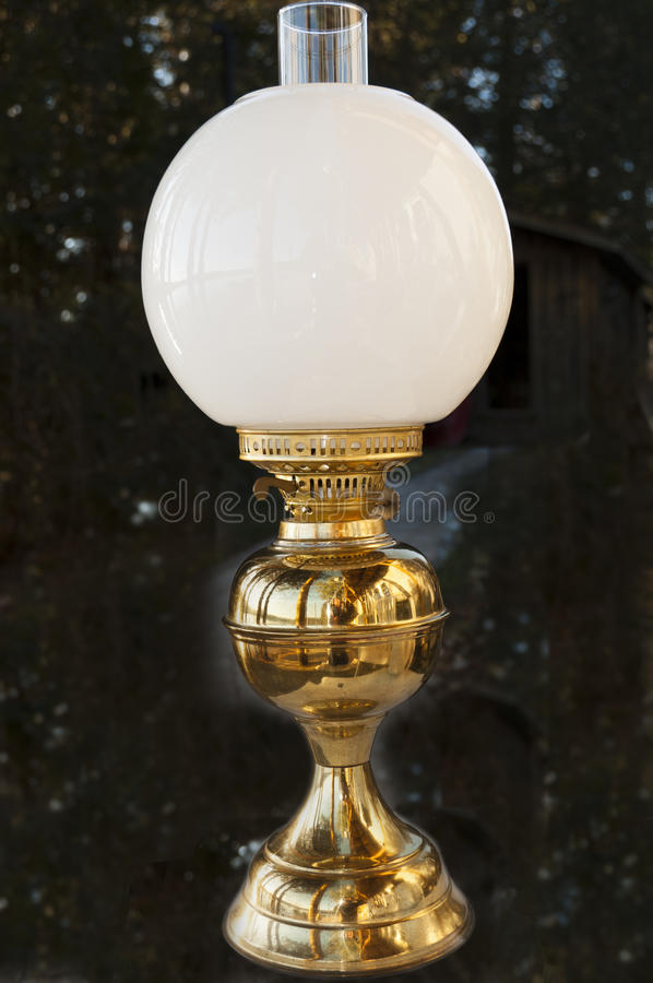 Download Antique oil lamp stock photo. Image of lantern, lampshade - 22166206