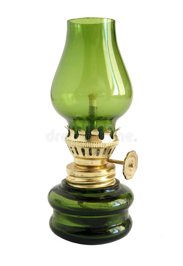 Antique oil lamp royalty free stock photography