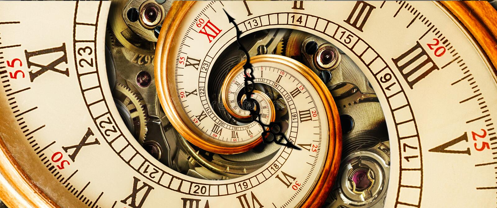 Download Antique Old Clock Abstract Fractal Spiral. Watch Classic Clock Mechanism Unusual Abstract Texture Fractal Pattern Background. Old Stock Photo - Image of face, closeup: 102897598
